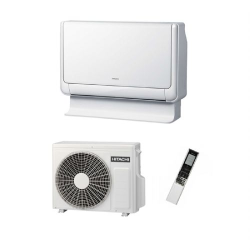 Hitachi Air Conditioning Shirokuma Floor Mounted RAF-25RXB Inverter Heat Pump 2.5Kw/9000Btu A++ 240V~50Hz